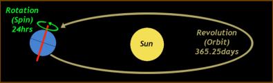 Órbita de la Tierra alrededor del Sol (Crédito: Universidad de Hawaii)