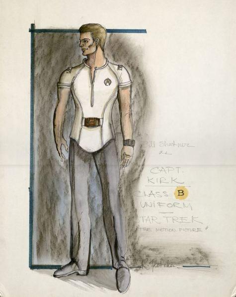 Costume design for William Shatner as Capt. Kirk, Class B uniform, Star Trek: The Motion Picture. Robert Fletcher, ca. 1979. *2004MT-81
