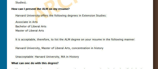 Harvard University Official Website