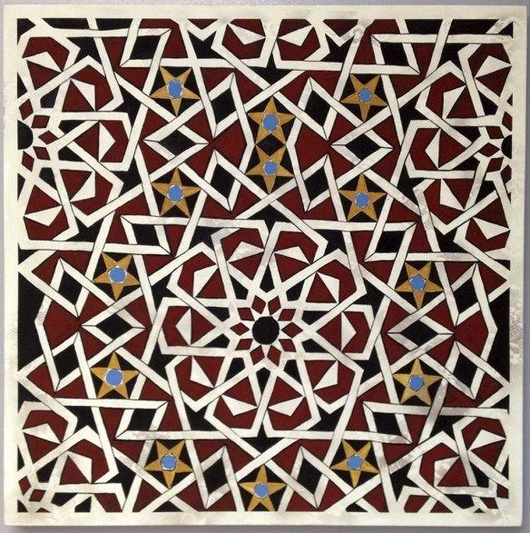 Islamic Geometry 1,  2012, flasche on canvas, 36x36