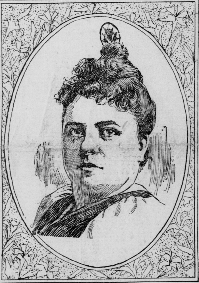 Cordelia Botkin, illustration from the San Francisco Call.