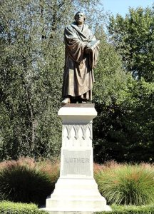 """The new """"Stand"""" theme for the LCMS is based on Martin Luther's words: """"Here I stand. I can do no other."""" The theme will be reflected in special events through 2016. (Concordia Seminary, St. Louis)"""