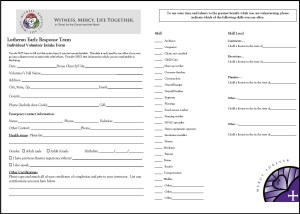 LERT Volunteer Form