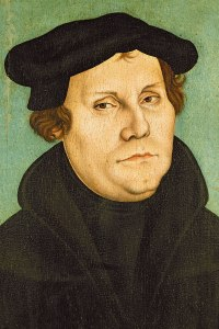 Martin Luther (portrait by Lucas Cranach)