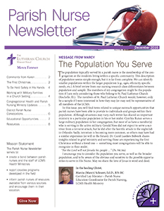 LCMS Health Ministry December 2016 Parish Nurse Newsletter