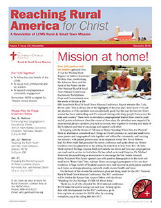 LCMS December 2016 Rural & Small Town Mission (RSTM) Newsletter