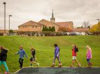 Students at First Immanuel Lutheran School in Cedarburg, Wis., walk back to their classroom after activities on the school's playground one day last fall. (LCMS/Erik M. Lunsford)