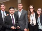 Members of the first-place team from Concordia University Texas in the 2017 Lutheran Church Extension Fund National Student Marketing Competition are (from left) team adviser Lee Pils and students Carlos Munoz, Race Mellman, Taylor Schmidt and Jacqueline Knell. (LCEF/Corey Woodruff)