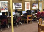 "Students work on computers at Milwaukee Lutheran High School, an inner-city facility with a predominantly low-income student body.  A new ""crowdfunding"" project aims to upgrade the school's technology, which is years behind that of other area schools. (Milwaukee Lutheran High School)"
