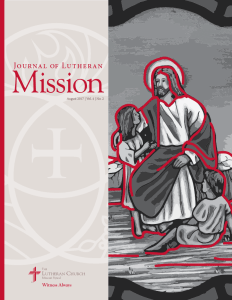 Journal of Lutheran Mission Cover