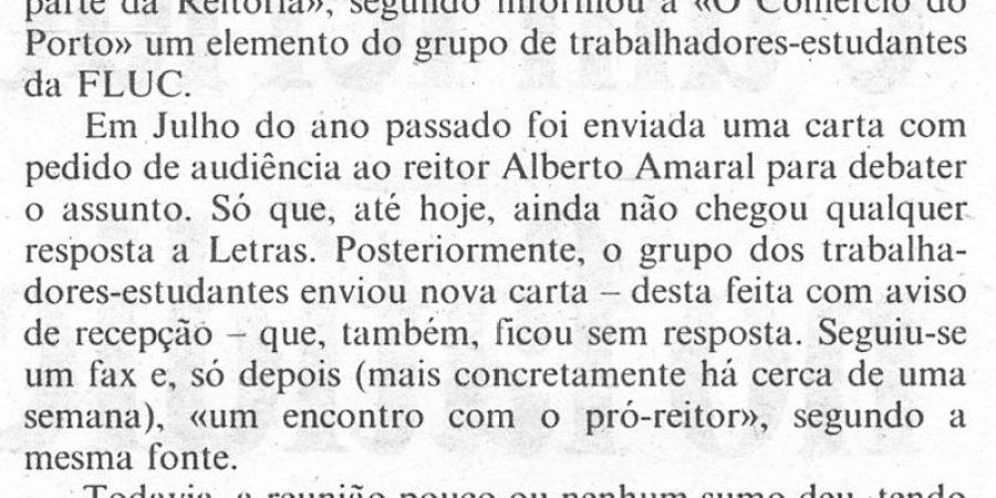 """(380) """"Letras em protesto pelo horário nocturno"""" - 1995 12 01 CPorto ...-300r"""