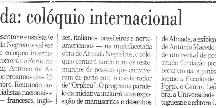 """(277) """"Almada: colóquio internacional"""" - 1996 11 28 Publico ...-60r"""