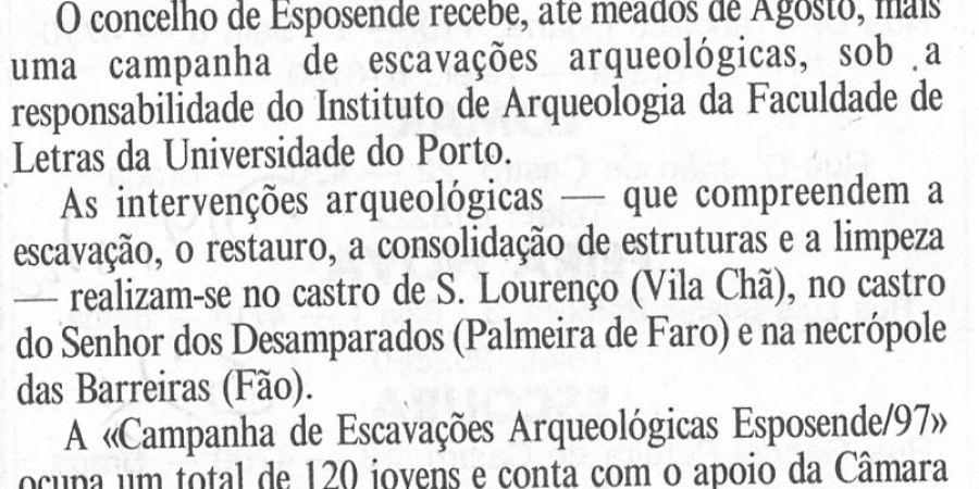 """(260) """"Escavações arqueológicas em Esposende"""" - 1997 07 05 DMinho ...-70r"""