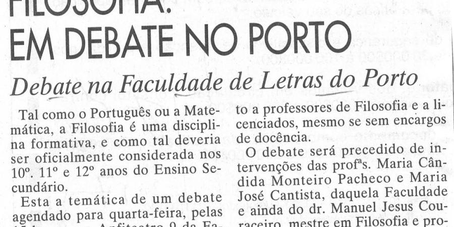 """(236) """"Filosofia: em debate no Porto"""" - 1997 11 17 JNoticias ...-80r"""
