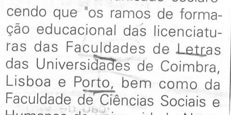 """(225) Formação docente do 3º ciclo"""" - 1998 03 10 JNoticias ...-50r"""