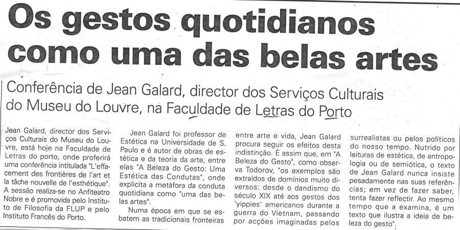 """(224) """"Os gestos quotidianos como uma das belas artes"""" - 1998 03 12 JNoticias ...-210r"""