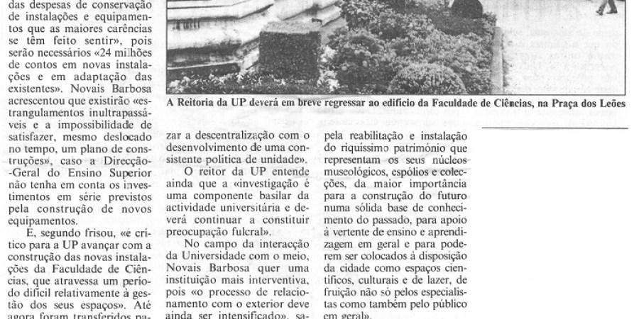 """(150) """"Universidade do Porto com problemas financeiros"""" - 1999 03 23 CPorto ...-630r"""