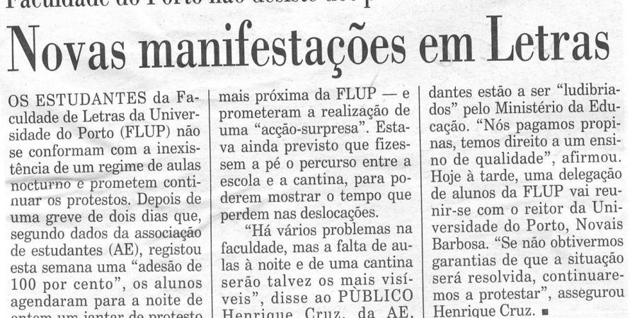 """(92) """"Novas manifestações em Letras"""" - 2000 03 03 Publico 24-100r"""
