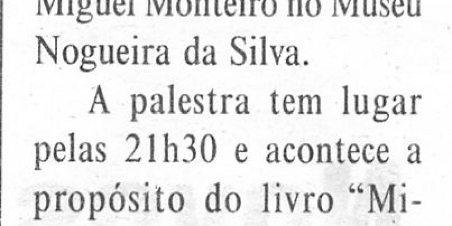 """(67) """"Emigração para o Brasil retratada em conferência"""" - 2000 10 03 DMinho 06-150r"""