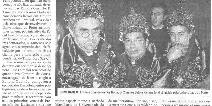 """(51) """"Heróis em Timor e Portugal"""" - 2000 11 01 DNoticias 07-400r"""