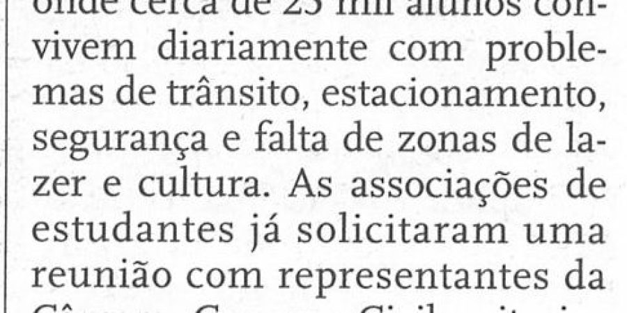 """(43) """"Estudantes universitários do Porto fecham cinco faculdades"""" - 2000 11 09 JNoticias 26b-110r"""