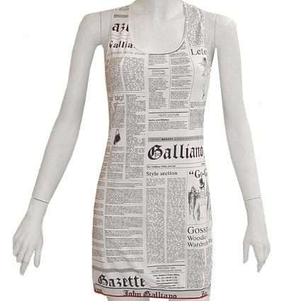 galliano newspaper dress