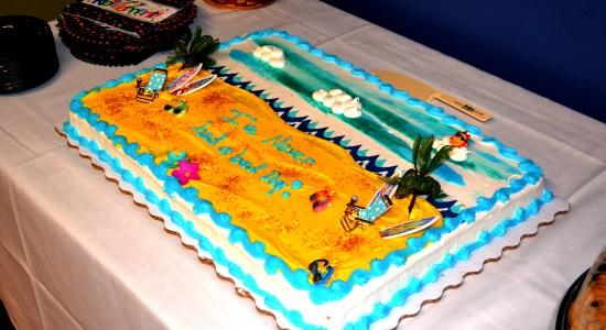 Gary Golden's retirement cake