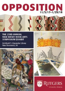 The 23rd annual NJ Book Arts Symposium takes place at Alexander Library on November 3.