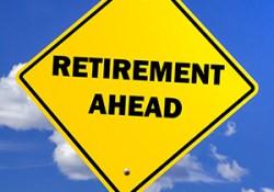 Retirement ahead graphic image