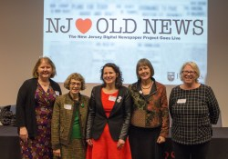 Dee Magnoni, Maxine Lurie, Caryn Radick, Mary Chute, and Grace Agnew at the NJDNP launch celebration.