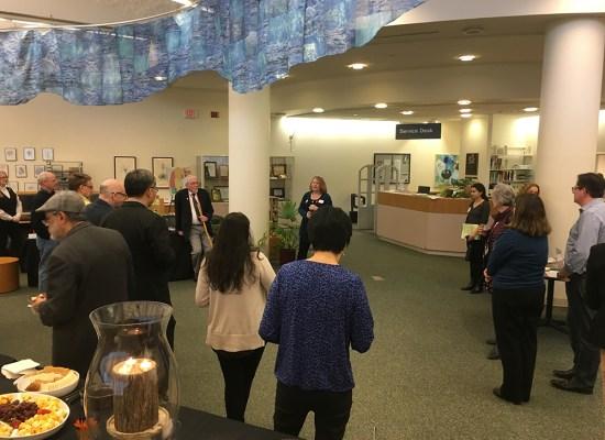 reception at Chang Library