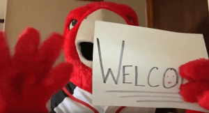 The Scarlet Raptor in a virtual welcome in honor of National Decision Day