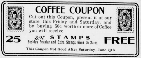 Image of a coffee coupon
