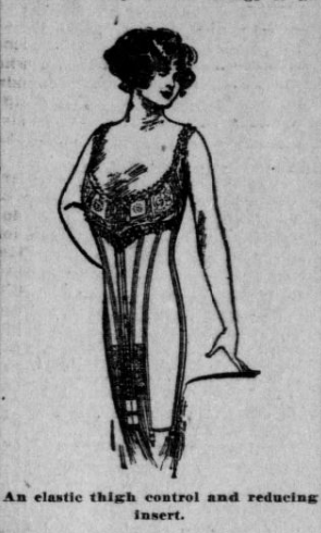 Image of woman wearing a type of corset.