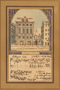 Mendelssohn watercolor of the Gewandhaus