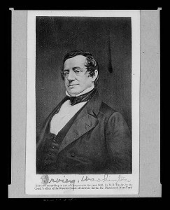 Washington Irving. 1861. Photo by Matthew Brady. Prints and Photographs Division.