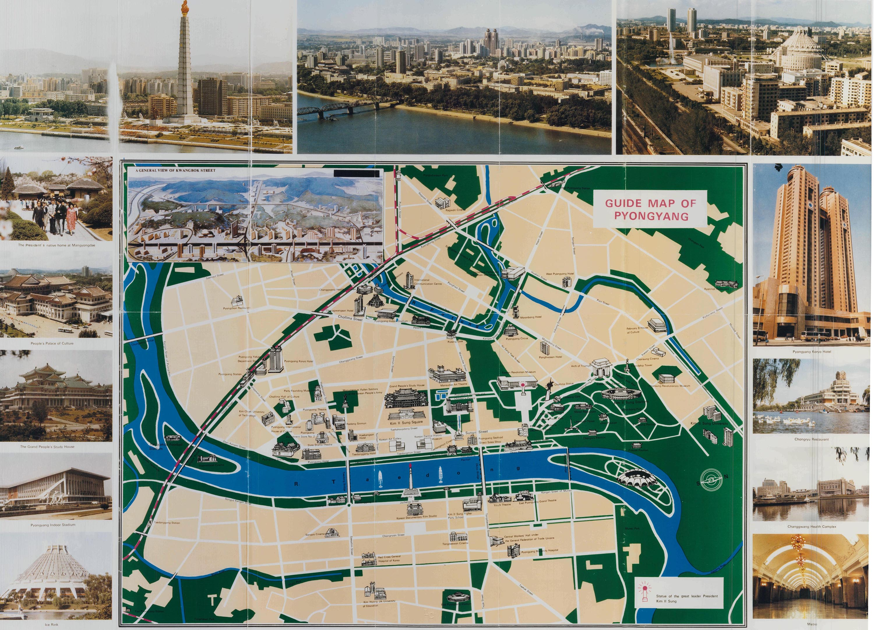 North Korea s Enigmatic Capital Pyongyang   Worlds Revealed     Map for the 13th World Festival of Youth and Students  published by the  DPRK in