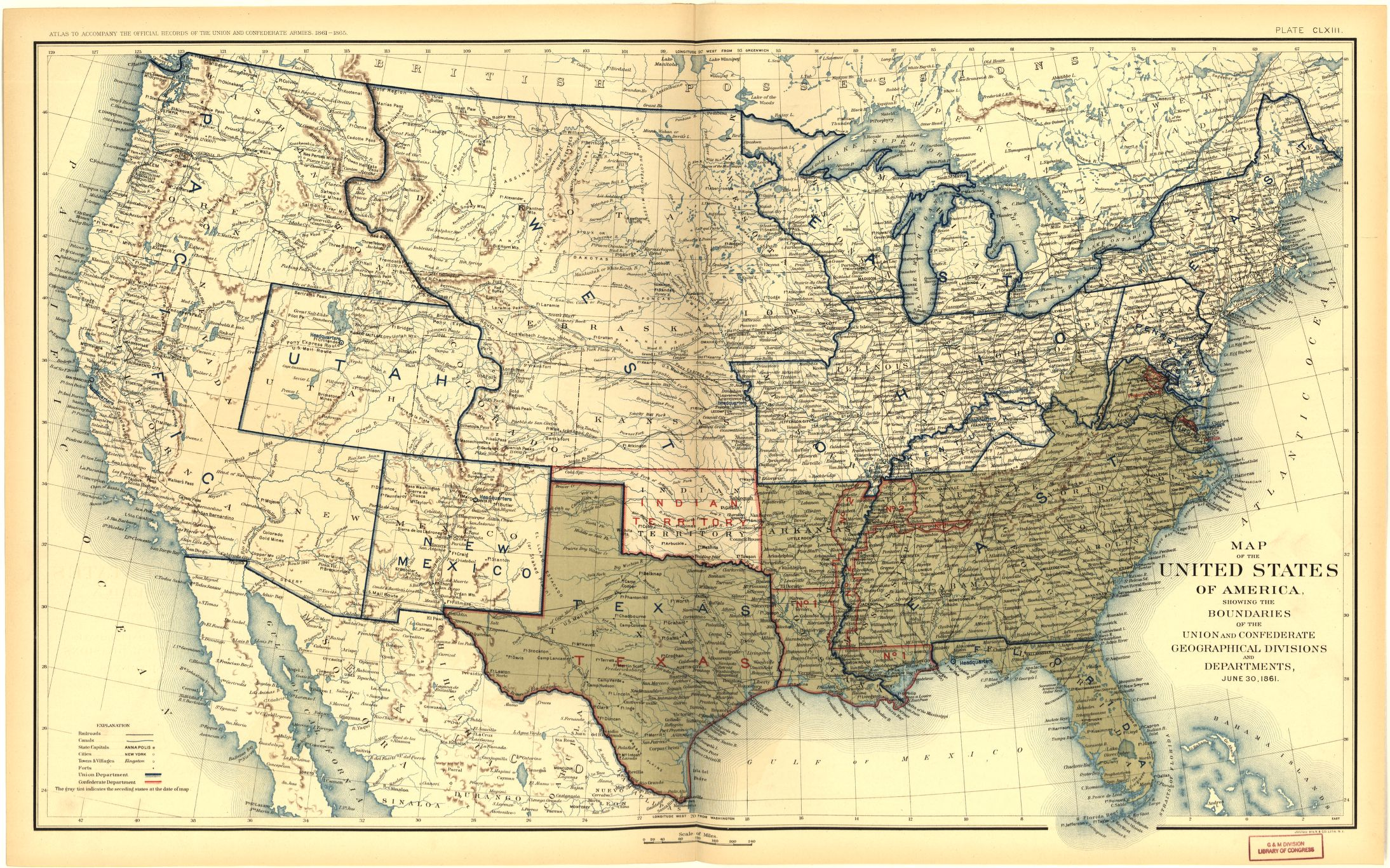 Places In American Civil War History Maps Depicting