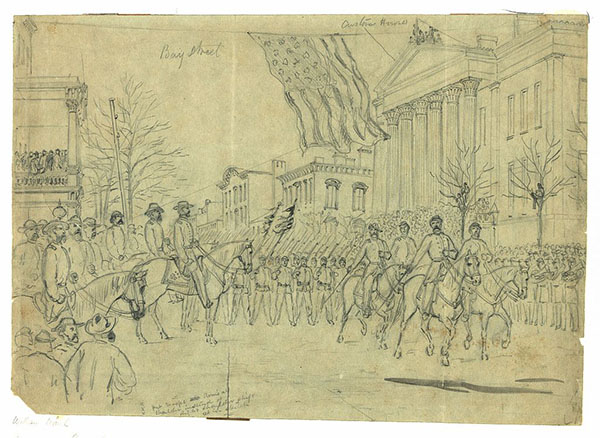 Sherman reviewing his army in Savannah