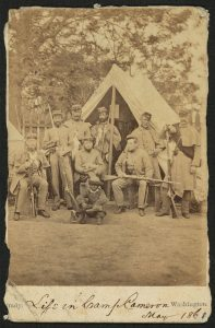 Life in Camp Cameron. Matthew Brady, 1861