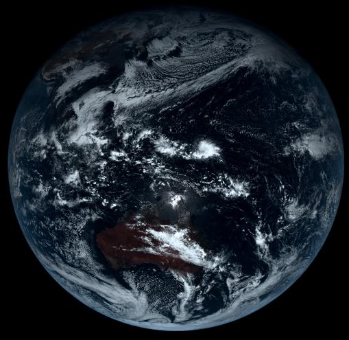 地球原始顏色 - 無修正真實照片