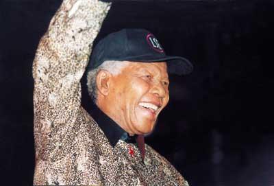 Nelson Mandela at LSE. Credit: LSE
