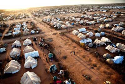 Dadaab, which hosts what is often described as the largest refugee camp in the world, has over 400,000 people, most of them from Somalia