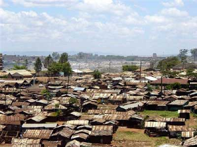 Interviews for this research project were carried out in the Nairobi slums of Korogocho (pictured) and Viwandani
