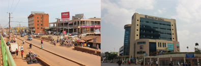 Why are urban plans and regulations implemented less effectively in Kampala than Kigali?