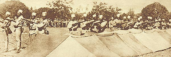 Cameroonian troops ready for action during World War 1