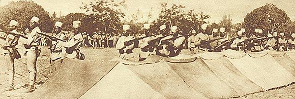 Les troupes camerounaises entrainées par les Allemands étaient reconnus comme étant d'excellents combattants