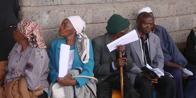 Some of the older people waiting for a consultation at the free medical camp Photo: Gloria Langat