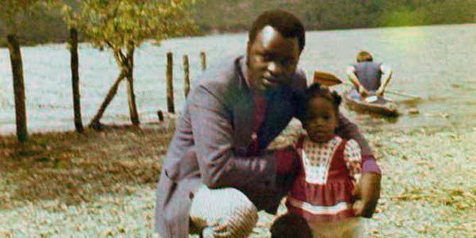 Syerramia with her dad, then a recently-qualified doctor in England in the 1970s