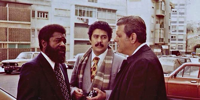 Daniel Chipenda, left, pictured on a trip to Lisbon in 1981, was part Angola's struggle against colonialism